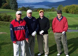Group of 4 golfers