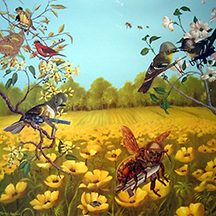 Painting with Birds and Flowers
